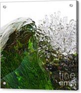 Malachite Water Acrylic Print