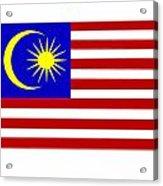 Malaysia Flag Acrylic Print