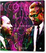 Malcolm And The King 20140205m68 With Text Acrylic Print by Wingsdomain Art and Photography