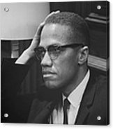 Malcolm X 1964 Acrylic Print