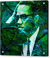 Malcolm X 20140105p138 Acrylic Print by Wingsdomain Art and Photography