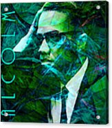 Malcolm X 20140105p138 With Text Acrylic Print