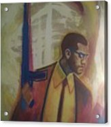 Necessary Means Of Malcolm X Acrylic Print