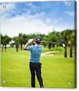Male Golf Player  Acrylic Print