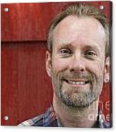 Male Smiling Acrylic Print