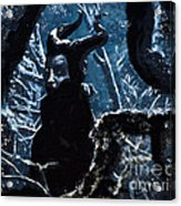 Maleficent In Winter's Woods Acrylic Print