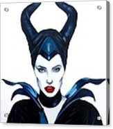 Maleficent Watercolor Acrylic Print