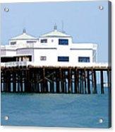Malibu Pier On A California Blue Sky Day Acrylic Print