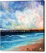 Malibu Pier Acrylic Print