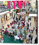 Mall Before Christmas Acrylic Print