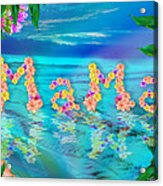 Mama Ocean Acrylic Print