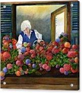 Mama's Window Garden Acrylic Print