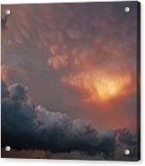 Mammatus At Sunset Acrylic Print