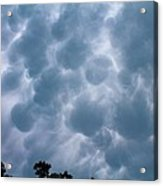 Mammatus Clouds Acrylic Print by Candice Trimble