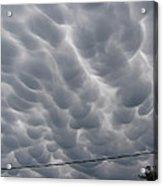 Mammatus Clouds Over Yorkton Acrylic Print