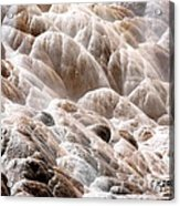 Mammoth Hot Springs Closeup Acrylic Print