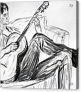 Man And Guitar Acrylic Print