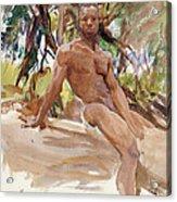 Man And Trees. Florida Acrylic Print