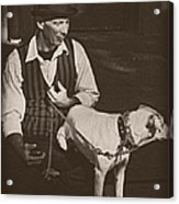 Man And White Dog In New Orleans Acrylic Print