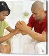 Man And Wife Pray Acrylic Print