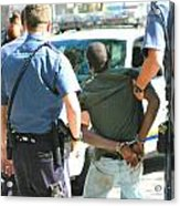 Man Arrested. Acrylic Print