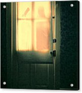 Man At Door With Cleaver Acrylic Print