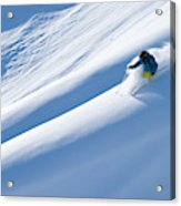 Man Big Mountain Skiing In The Chilkat Acrylic Print