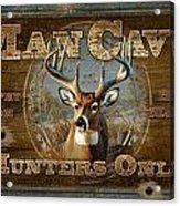 Man Cave Deer Acrylic Print by JQ Licensing