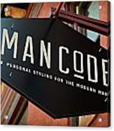 Man Code Acrylic Print