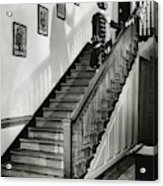 Man Dressed As Colonial Butler On The Stair Acrylic Print