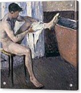 Man Drying His Leg  Acrylic Print