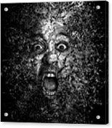 Man Eyes Face Horror Portrait Black And White  Acrylic Print