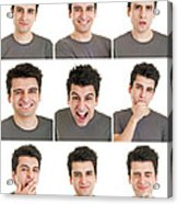 Man Face Expressions Acrylic Print