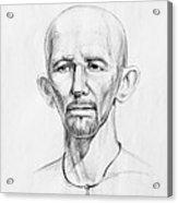 Man Head Study Acrylic Print