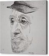 Man In Cap Acrylic Print by Glenn Calloway