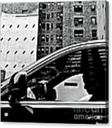 Man In Car - Scenes From A Big City Acrylic Print