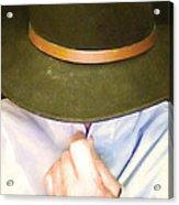 Man In Hat Acrylic Print
