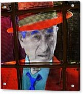 Man In Red Fedora Acrylic Print