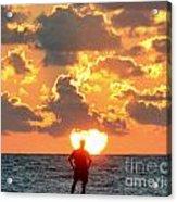 Man In Sunrise Acrylic Print