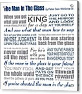 The Man In The Glass Poem Acrylic Print