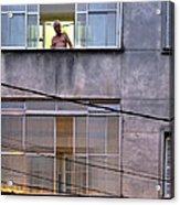 Man In The Window Acrylic Print