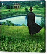 Man In Top Hat On A Hill Acrylic Print