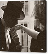 Man Kissing A Womans Hand Acrylic Print by Beverly Brown