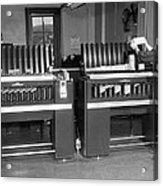 Man Loading Punch Cards Acrylic Print