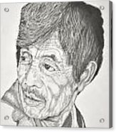 Man Looking Back Acrylic Print by Glenn Calloway