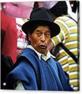 Man Of Cotacachi Ecuador Acrylic Print