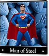 Man Of Steel Acrylic Print by William Patrick