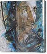 Man Portrait By C215 Acrylic Print