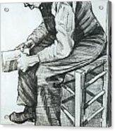 Man Reading The Bible Acrylic Print by Vincent van Gogh