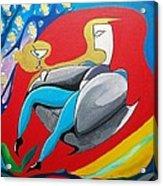Man Sitting In Chair Acrylic Print